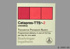 Beige Square Carton Bi 32 - Catapres TTS-2 Transdermal System