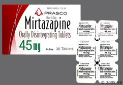 White Round Orally Disintegrating Tab T4Z - Mirtazapine 45mg Orally Disintegrating Tablet