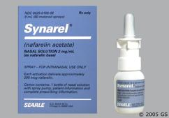 Synarel Coupon - Synarel 8ml of 2mg/ml nasal spray