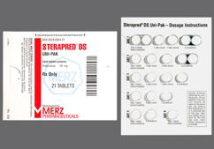 White Round Dose Pack 5442 And Dan Dan - Sterapred DS 6 Day Uni-Pak 10mg Tablet