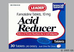 white oval - Leader Acid Reducer Tablet