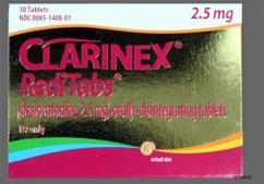 Red Round Orally Disintegrating Tab K - Clarinex RediTabs 2.5mg Orally Disintegrating Tablet