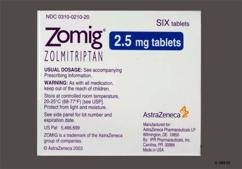 Yellow Round Dose Pack Zomig 2.5 - Zomig 2.5mg Tablet