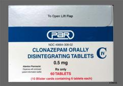 White Round Tablet K7 - Clonazepam 0.5mg Orally Disintegrating Tablet