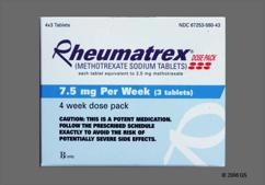 Rheumatrex Coupon - Rheumatrex 12 tablets of 2.5mg dose pack