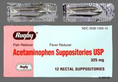 white bullet suppository - Acetaminophen 325mg Rectal Suppository