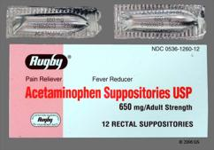 white bullet suppository - Acetaminophen 650mg Rectal Suppository