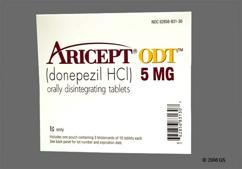 White Round Orally Disintegrating Tab Aricept And 5 - Aricept ODT 5mg Orally Disintegrating Tablet