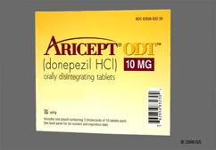 Yellow Round Orally Disintegrating Tab Aricept And 10 - Aricept ODT 10mg Orally Disintegrating Tablet