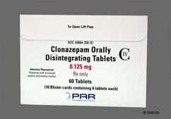 White Round Orally Disintegrating Tab K5 - Clonazepam 0.125mg Orally Disintegrating Tablet