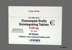 Clonazepam Coupon - Clonazepam 0.125mg orally disintegrating tab