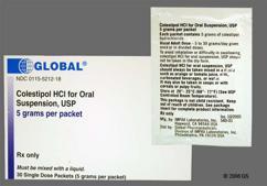 Colestipol; colestid; colestipol hcl; colestipol
