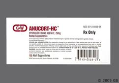 white bullet - Anucort-HC 25mg Rectal Suppository