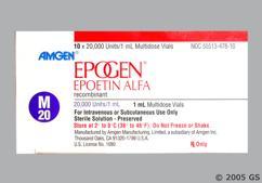 Epogen Coupon - Epogen 1ml of 20000 units/ml vial