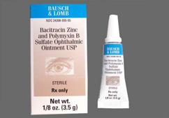 Bacitracin / Polymyxin B Coupon - Bacitracin / Polymyxin B 3.5g tube of ointment