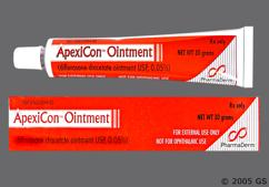 Apexicon Coupon - Apexicon 30g of 0.05% tube of ointment