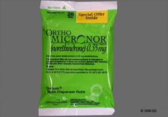 Green Round Package Ortho 0.35 - Ortho Micronor 0.35mg Tablet