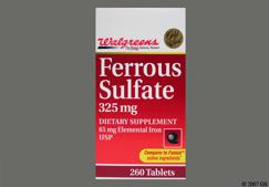 Green Round Tablet Pc 22 - Walgreens Gold Seal Ferrous Sulfate 325mg Tablet