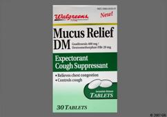 White Oval Tablet 44 533 - Walgreens Mucus Relief DM 20mg-400mg Tablet