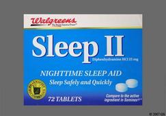 Blue Round Tablet 44 189 - Walgreens Sleep II Tablet