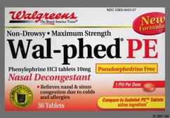 Red Round 44 453 - Wal-phed PE 10mg Tablet