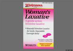 Pink Round Tablet 44 326 - Walgreens Womans Laxative 5mg Tablet