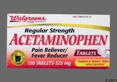 White Round 44 104 - Walgreens Acetaminophen 325mg Tablet