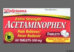 White Round Tablet 44 148 - Walgreens Acetaminophen Extra Strength 500mg Tablet