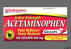 Red And White Capsule L 5 - Walgreens Acetaminophen Extra Strength 500mg Gelcap