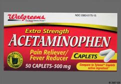 White Oblong 44 175 - Walgreens Acetaminophen 500mg Caplet
