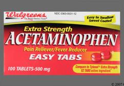 Red Round 44 531 - Walgreens Acetaminophen Extra Strength 500mg Easy Tab Tablet