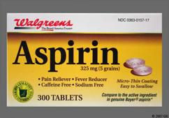 White Round Tablet 44 157 And Aspirin - Walgreens Aspirin 325mg Tablet