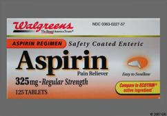 Orange Round Tablet 44 227 - Walgreens Aspirin 325mg Enteric Coated Tablet