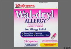 Pink And White Capsule 44-107 44-107 - Wal-dryl Allergy Capsule