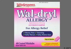 Pink Oblong Tablet 44-329 - Wal-dryl Allergy Minitab
