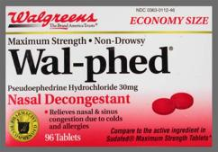 Red Round 44 112 - Wal-phed 30mg Tablet