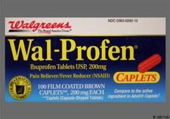 Red-Brown Oblong 44-292 - Wal-Profen 200mg Caplet