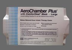 colorless - AeroChamber Plus with Mask (Large)