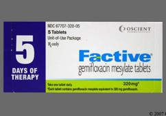 White Oval Tablet Ge 320 - Factive 320mg Tablet