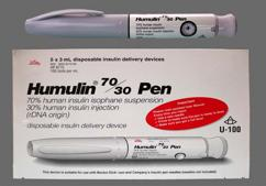 white - Humulin 70/30 Pen Suspension for Injection