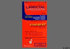Peach Shield Kit Lamictal 100 - Lamictal 25mg-100mg Tablet Starter Kit (For Patients Not Taking Enzyme-Inducing Drugs or Valproate)