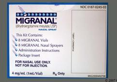 yellow - Migranal 4mg/ml Nasal Spray