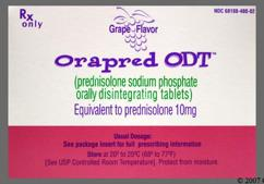 White 10 And Ora - Orapred ODT 10mg Orally Disintegrating Tablet