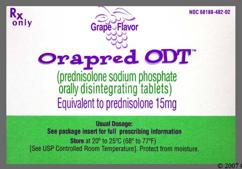 White Orally Disintegrating Tab 15 And Ora - Orapred ODT 15mg Orally Disintegrating Tablet