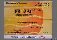 Green Package Lilly 3004 90 Mg - Prozac Weekly 90mg Delayed-Release Capsule