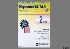 Pink-Orange Square Orally Disintegrating Tab R2 - Risperdal M-Tab 2mg Orally Disintegrating Tablet