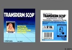 tan round - Transderm Scop 1.5mg Transdermal System