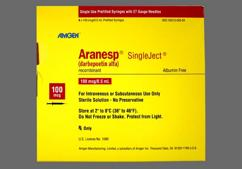 Aranesp Coupon - Aranesp 4 syringes of 100mcg/0.5ml carton