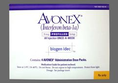 Avonex Coupon - Avonex 4 syringes of 30mcg/0.5ml dose pack