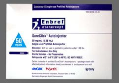 colorless - Enbrel SureClick Autoinjector 50mg/ml Solution for Injection